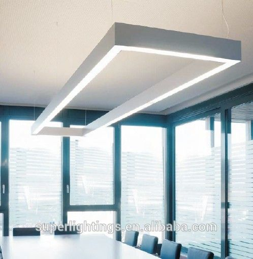 Aluminum silver led tube light office hanging light