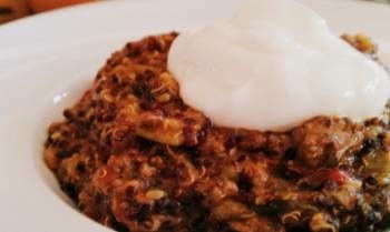 Slow cooker enthusiasts! You'll love our Quinoa Chili. Quinoa is high in protein, provides all 9 essential amino acids, is gluten-free and cholesterol-free!