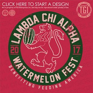 Lambda Chi Alpha   ΛΧΑ   Watermelon Fest   Philanthropy   TGI Greek   Greek Apparel   Custom Apparel   Fraternity Tee Shirts   Fraternity T-shirts   Custom T-Shirts