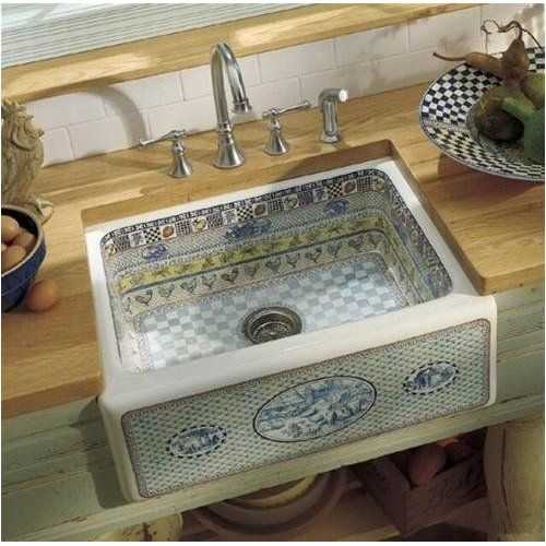 Kohler Sink.. Kind Of A Cool Different Accent... But Needs To
