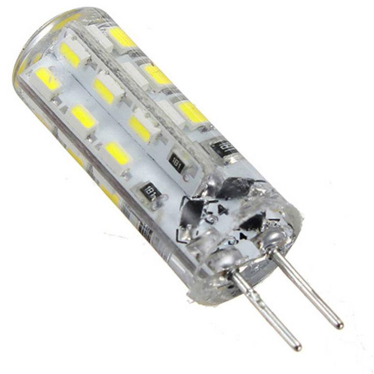 H1  LED Lamp G4 AC12V DC12V Bulb SMD 3014 1.5W Warm White / White 24led Light 360 Degree Angle LED Spotlight Bulb Silicone lamp
