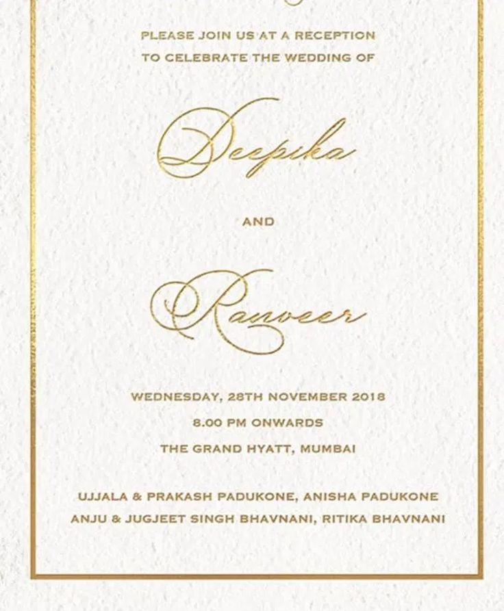 deepika padukone wedding card - Google Search | Wedding ...
