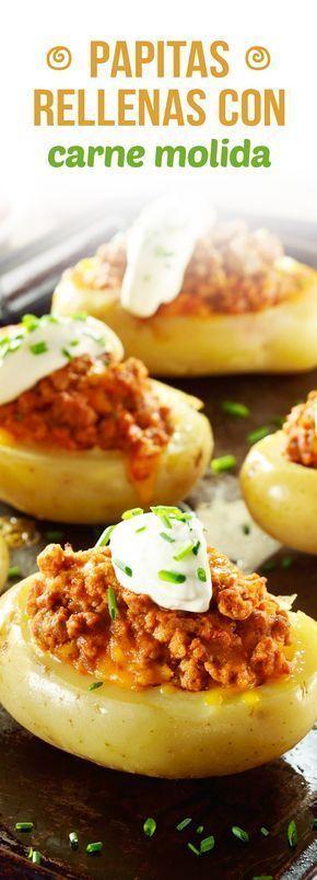 ¡Que sabrosa son las papas rellenas al horno! Aquí encontrarás una receta que esta exquisita, son unas papitas rellenas con carne molida que a ti y a tu familia les va a fascinar. Es una preparación perfecta para un domingo soleado.