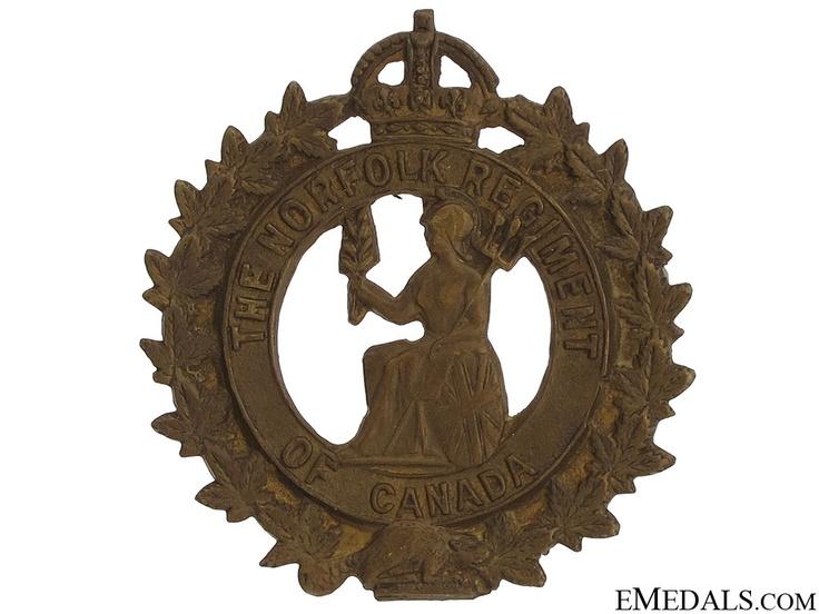 The Norfolk Regiment of Canada Cap Badge | eMedals