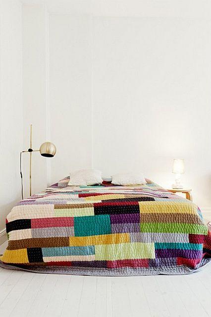 love the color block: Ideas, Interior, Craft, Colorful Quilts, Quilt Idea, Bedroom, Design