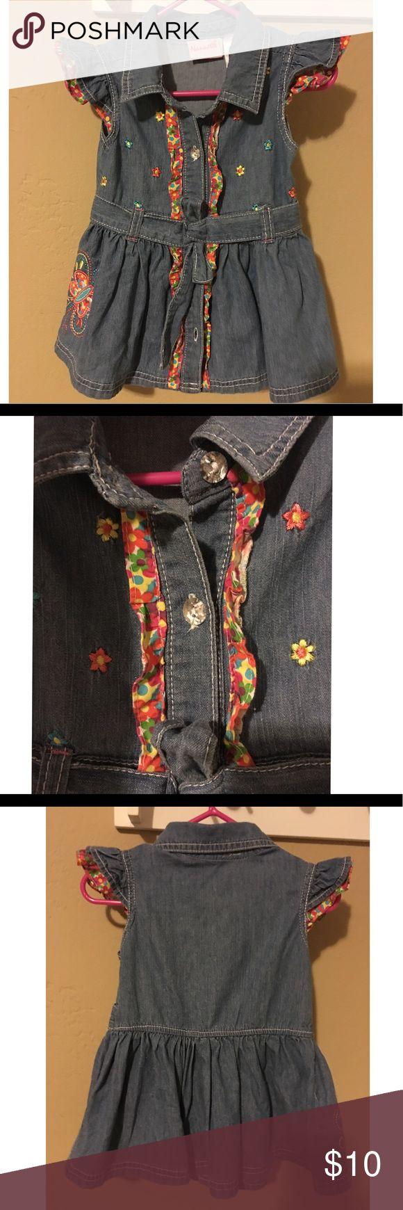 ✨Adorable Nannette Denim dress🎀✨ Worn once! Baby girl denim dress, very good condition! Has denim belt and well taken care of! 🎀👶💖 Nannette Dresses Casual