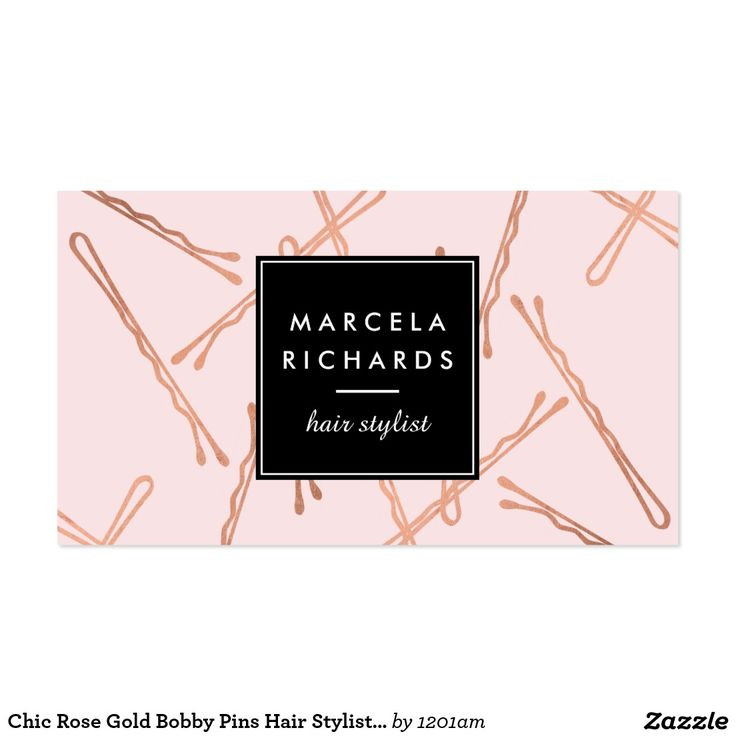 137 best business cards for hairstylist hair salons for Bobby pin salon