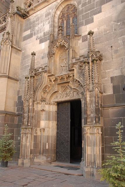 Beautiful church entrance, Kosice, Slovakia