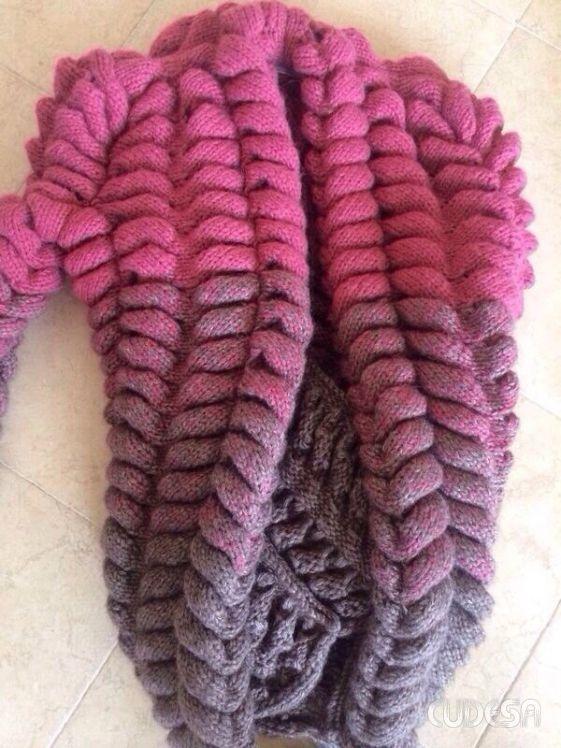 Горизонтальная косичка машинного вязания, известная как азиатский колосок | izba-vyazalinya