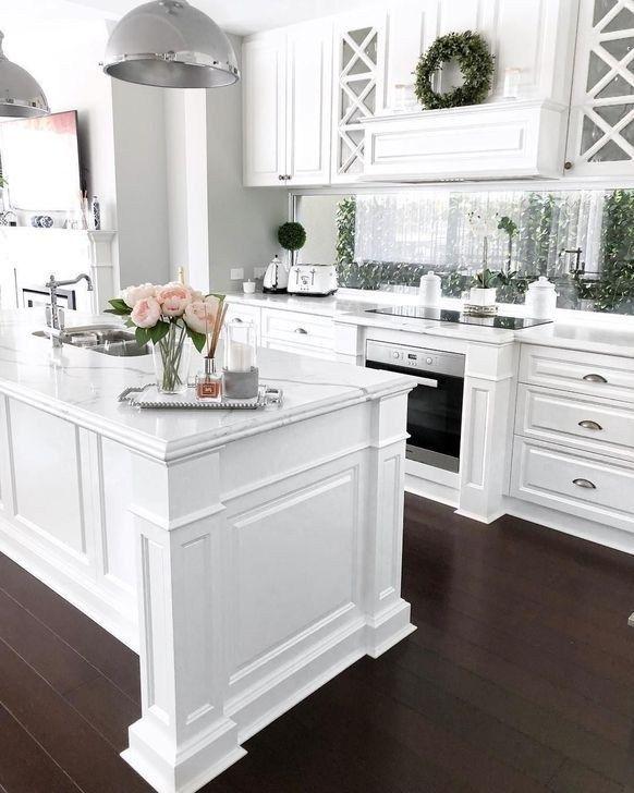 99 Wonderful White Kitchen Ideas With Dark Floors 99bestdecor