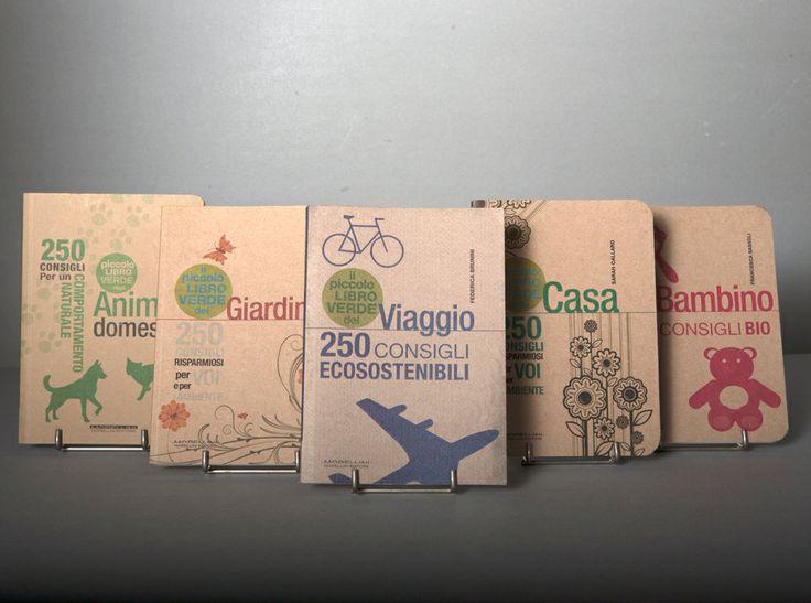 I piccoli libri verdi.  Progetto editoriale e grafico Segni. http:www.sedint.it #green #books #travel #editorialproject #bio #graphicdesign #portfolio