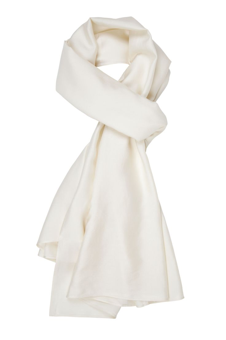 The Ethical Silk Co - Ivory Mulberry Silk Scarf  http://www.theethicalsilkco.com/shop/scarf-wrap