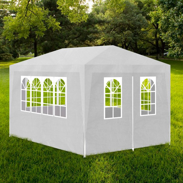 This party tent will be ideal for any outdoor event. You can also install it in your backyard as a large sunshade for your family and guests. The frame is made of heavy duty, rust-resistant, painted steel. The roof and the removable sides are made from polyethylene tarp, which is water and weather proof. Only $77 now~~