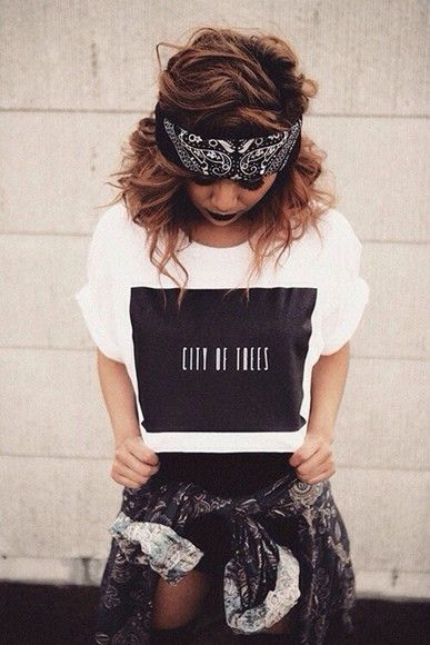 tumblr Outfits, Grunge and Bandanas on Pinterest