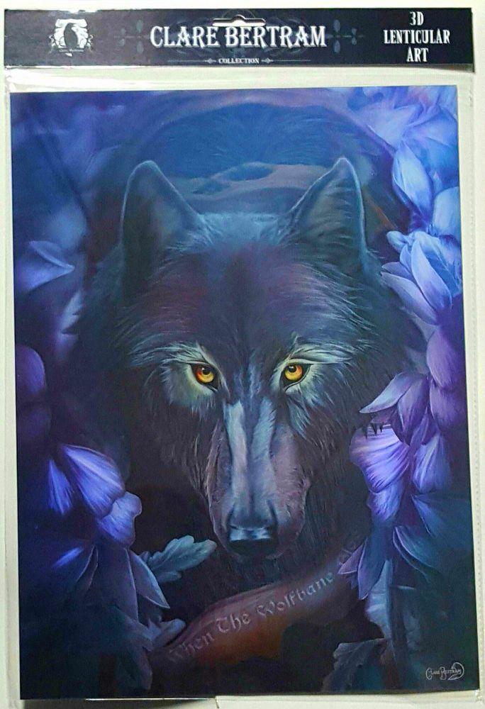 Brand New Licensed 3D Lenticular Art Clare Bertram When the Wolfbane Wolf Print