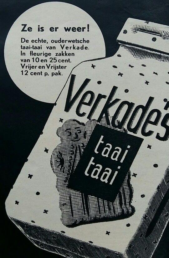 Verkade's taaitaai 1939