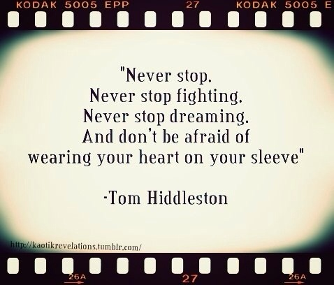 Never stop.