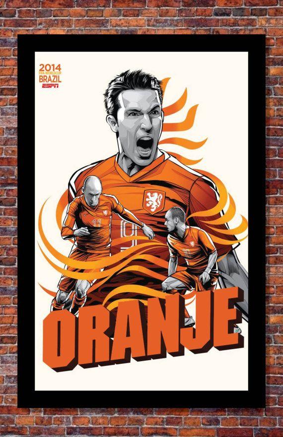 2014 FIFA World Cup Soccer Event Brazil | TEAM NETHERLANDS Poster