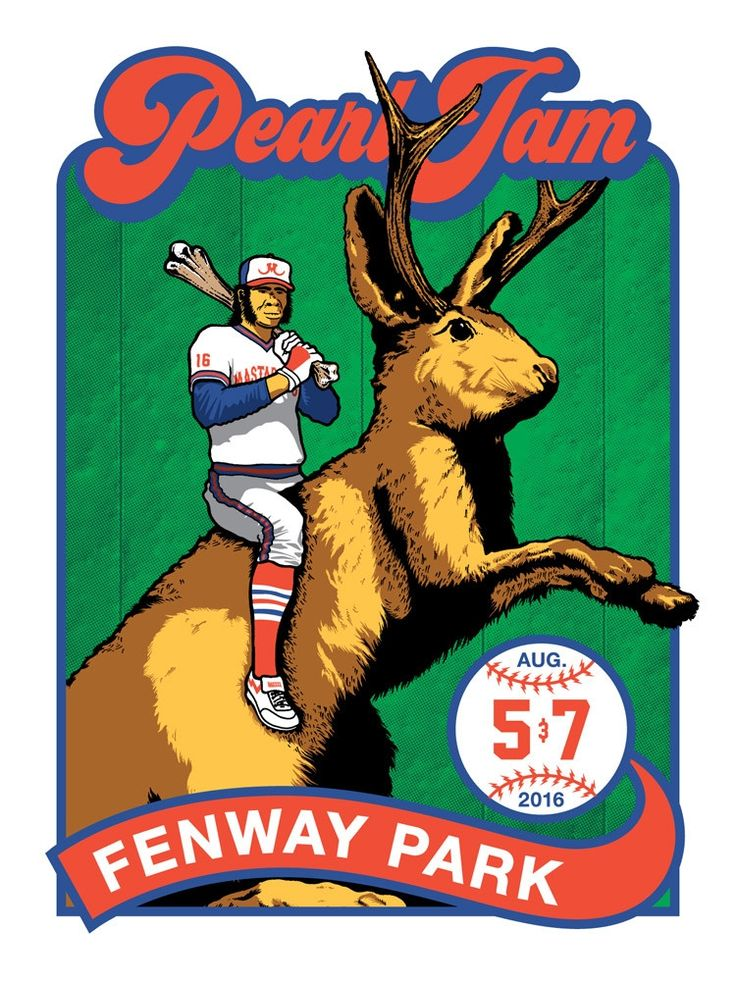 2016 Pearl Jam Fenway Park Ames Bros #2 Poster - Shop - Pearl Jam