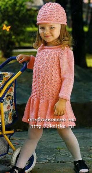 Детское платье вязаное спицами схемы