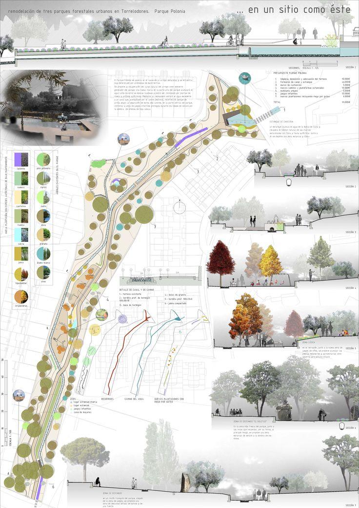 remodelación del Parque de Polonia en Torrelodones, Madrid    autores: Antonio San Hipólito, Carlos Carvajal y Muriel Toledo