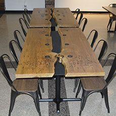 Reclaimed Live Edge Boardroom Restaurant Conference Table Toronto Barrie Muskoka…