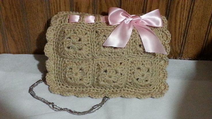 #Crochet Look a like Valentio Red Designer Clutch Handbag #TUTORIAL