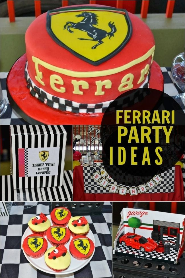 Ferrari Race Car Birthday Party Ideas www.spaceshipsandlaserbeams.com