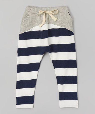 Another great find on #zulily! Gray & Navy Stripe Harem Pants - Infant, Toddler & Kids #zulilyfinds