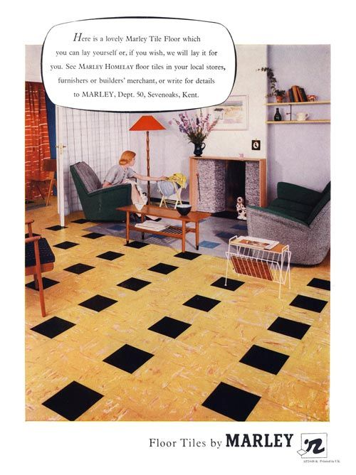 205 Best Images About Vintage And Retro Floor Style On
