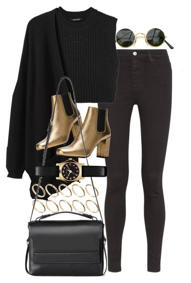 """Untitled #7489"" by nikka-phillips ❤ liked on Polyvore featuring AG Adriano Goldschmied, Neil Barrett, Organic by John Patrick, ASOS, Yves Saint Laurent, AllSaints and Marc by Marc Jacobs"