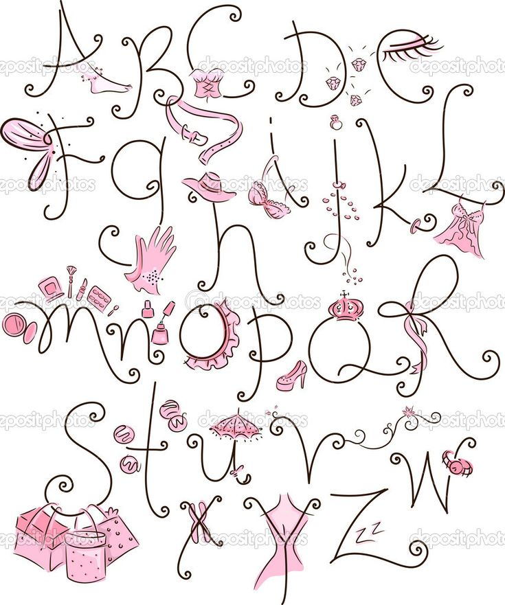 girly letters | Girly Alphabet | Stock Photo © Lorelyn ... Girly Fonts