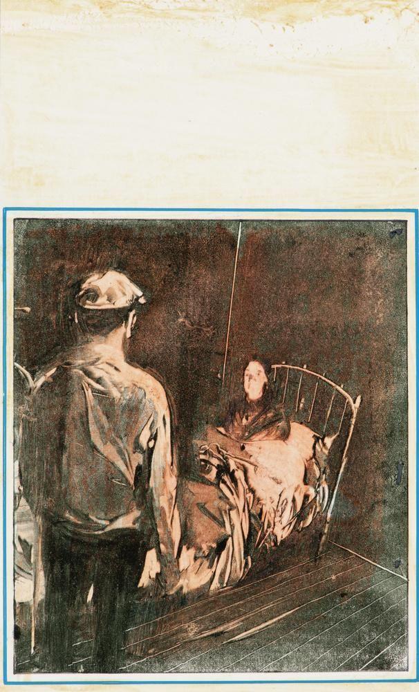 Csernus Tibor, A beteg, 1970-es évek, Litográfia, Papír