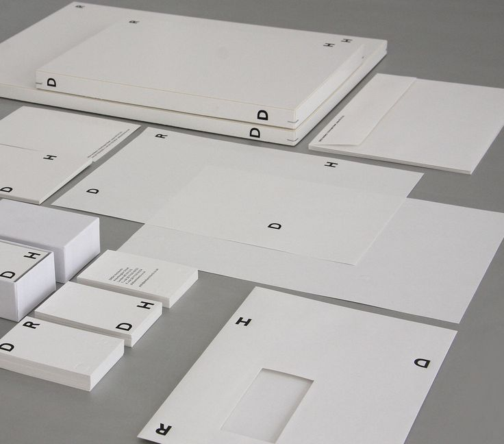 John Morgan Studio Beautiful #minimalist #stationery #design for DRDH Architects, from UK.
