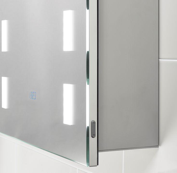 Renee Illuminated Cabinet With Built-in Digital Clock
