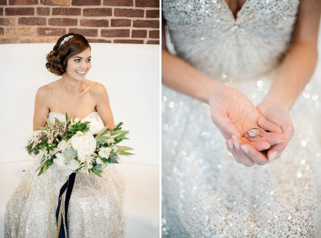 Tendance Robe du mariée 2017/2018  Spakrly silver Sarah Seven wedding dress