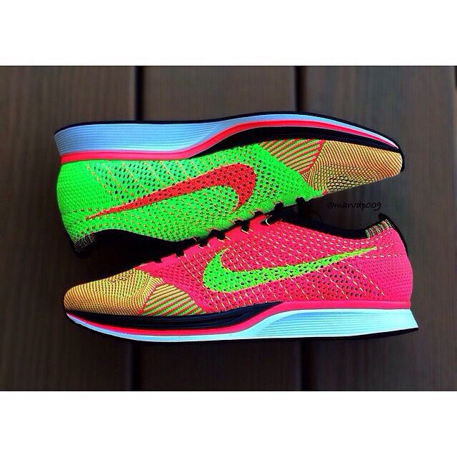 huge discount 88fcf 4d4ec Nike Flyknit Racer. Hyper Punch Electric Green   Wears.   Nike flyknit racer,  Nike flyknit, Nike