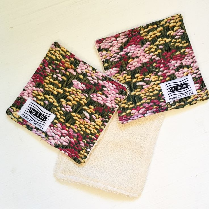 Coaster / Mini Wash Cloth - Flower Field