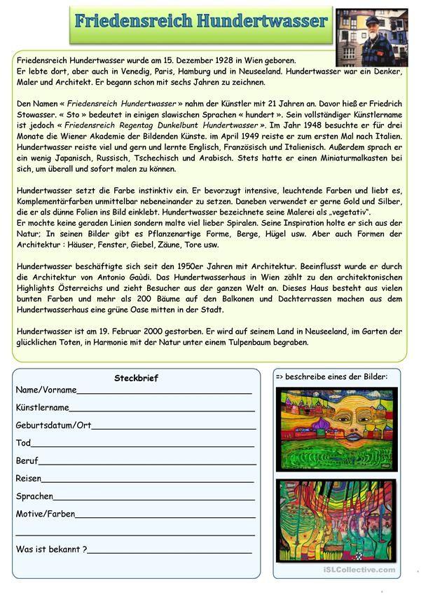 Friedensreich Hundertwasser Hundertwasser Kunstler Grundschule Kunstunterricht