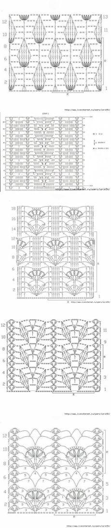 Оригинальные вязаные шарфы спицами со схемами фото 946