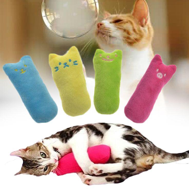 Pet Catnip Plush Toy Pillow Thumb Toy Cat Teeth Grinding Fancy 5 Colors