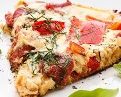 Quiche sans pâte tomate mozza (facile, rapide) - Une recette CuisineAZ