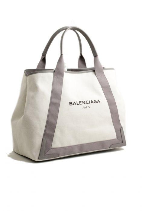 Balenciaga navy cabas bag grey Balenciaga