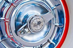 1957 Chevrolet Corvette Wheel 3 Art Print #chevroletcorvette1957