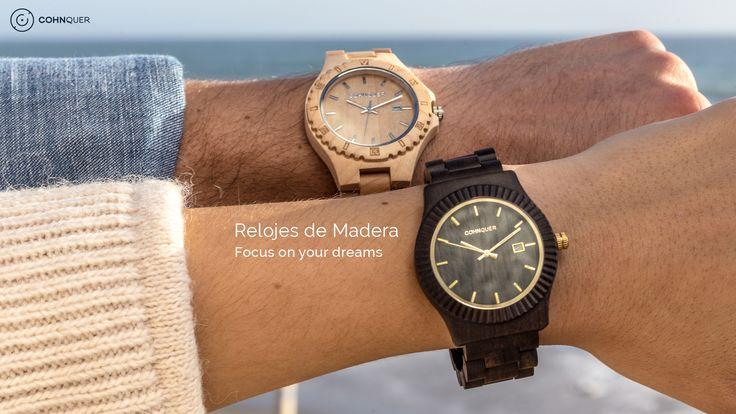 Relojes de Madera Cohnquer. Siente la comodidad y elegancia de la madera.