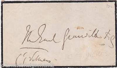 CHARLES PELHAM VILLIERS ENGLISH PARLIAMENT ANTI-CORN LAW AUTOGRAPH SIGNATURE