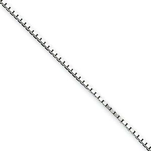9 inch Sterling Silver 1.10mm Box Chain LaneMax Jewelry. $10.99