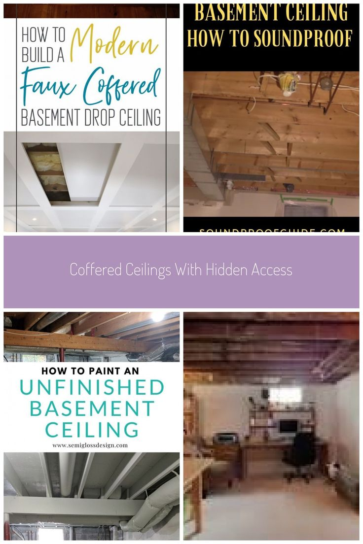 Looking To Achieve The Functionality Of Drop Ceilings But Maintain A Higher End Look Enter Our Invention Diy Coffered Ceilings With Hidden A