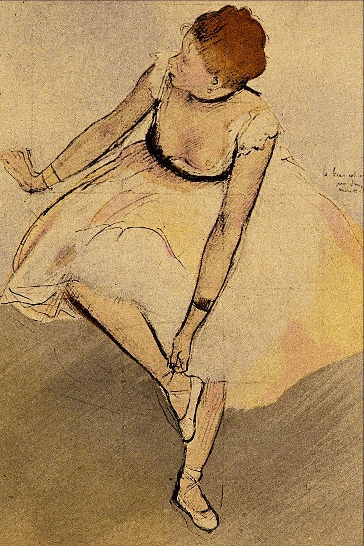 edgar degas ballerina | Edgar Degas Drawings http://commons.wikimedia.org/wiki/File:Dancer ...