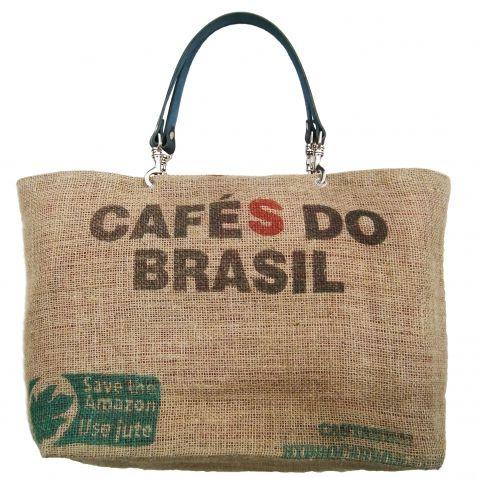 Sac cabas en toile de jute recyclée de sacs de café d'Amérique